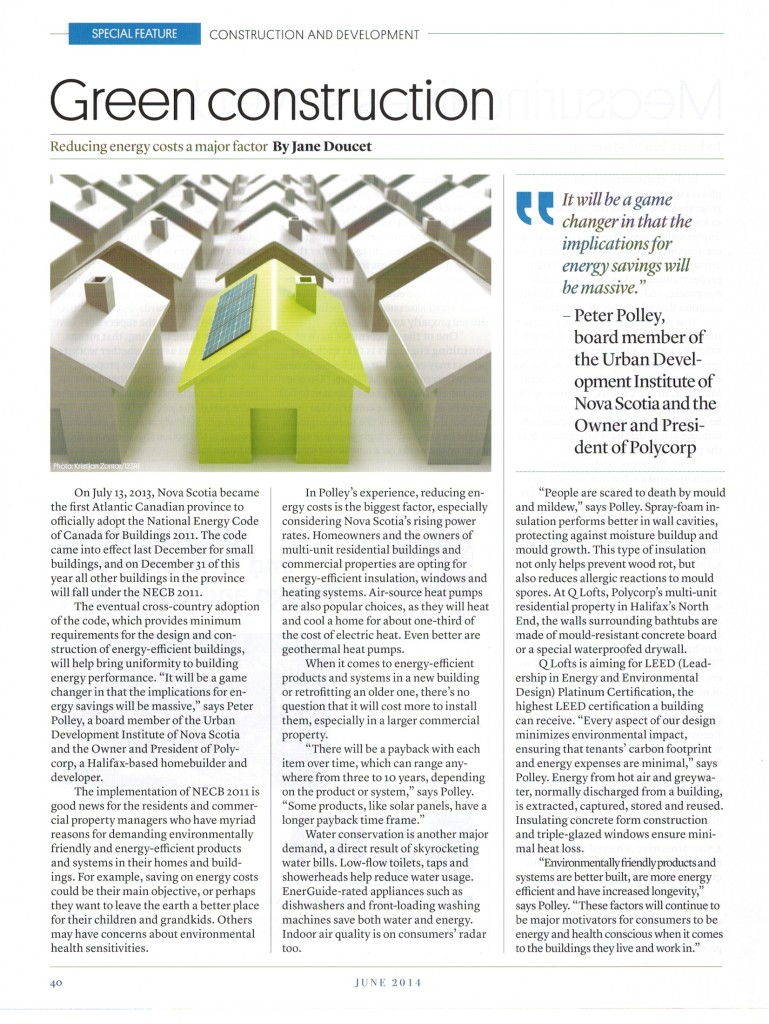 Polycorp 39 S Green Construction Featured In Magazine