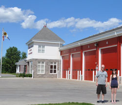 Fin and Laura at Berwick Fire Department